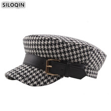 SILOQIN Autumn Winter Trend Womans Hat Military Hats Snapback Elegant Fashion Lady Brands Leisure Tourism Motion Flat Cap