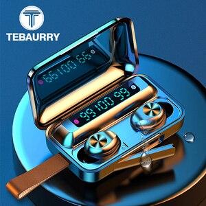 Image 1 - 新しい tws bluetooth イヤホン 5.0 タッチ防水スポーツワイヤレスイヤホンステレオヘッドフォン真ワイヤレスイヤフォンで micrphone
