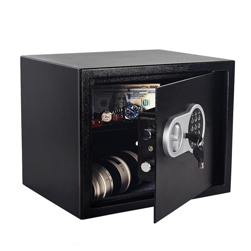 Security Safe Box 30*38*30CM 11kg Digital Depository Drop Cash Jewelry Home Hotel Lock Keypad Safety Security Box Secret Stash