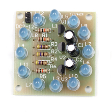 A7-- DIY Blue 12PCS LED Circular Lamp Suite Light Kit Fun Electronic Pa