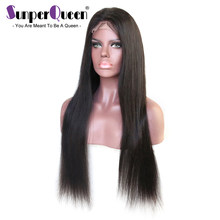 Silk Base Wigs Pre Plucked Hairline With Baby Hair Brazilian Virgin Hair Silk Top Silky Straight Full Lace Wigs For Women(China)