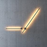 Modern Long Line Type Led Wall Lights Nordic Loft Lighting Acrylic Lampshade Background Indoor Decor Wall Lamps Aisle Luminaries