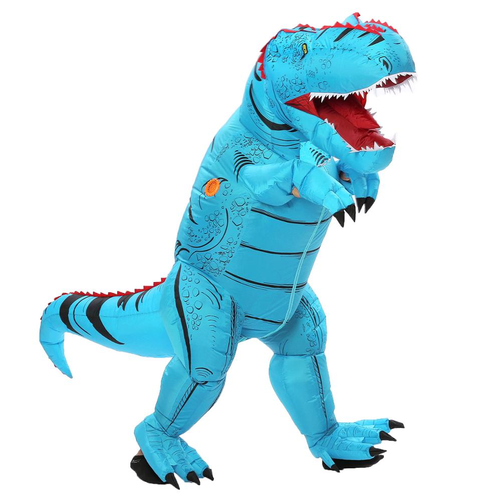 US $26 89 OFF T Rex trex Dinosaur Inflatable blow up Costume for Children Adult Women Men Halloween Cosplay Jumpsuit Movie Funny Fancy Dress in