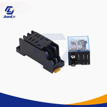 1pcs LY2N-J HH62P Small Electromagnetic Intermediate Relay AC 10A 250V 8pin DPDT Coil with DC12 / 24V AC110 / 220V Socket Base
