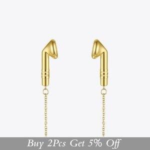 Image 2 - Enfashion metal fones de ouvido corrente gargantilha colar feminino cor do ouro aço inoxidável colares femme moda jóias p193048