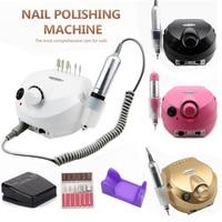 Wiertarka do paznokci 35000RPM Pro maszyna do manicure aparatura do zestaw do manicure i pedicure elektryczny plik z nożem narzędzie do zdobienia paznokci