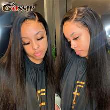 Wig Frontal-Wigs Ponytail Human-Hair 360-Lace-Wig Lace-Front Straight Peruvian Black Women