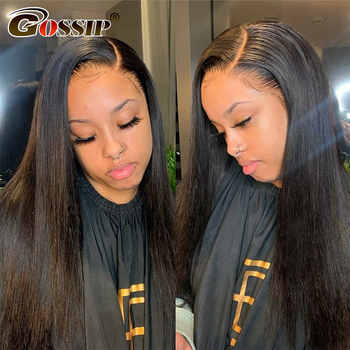 360 Lace Frontal Wig Human Hair Straight Peruvian 6 Inch Lace Front Wig Remy 360 Lace Wig Frontal Wigs For Black Women Ponytail - DISCOUNT ITEM  58% OFF All Category
