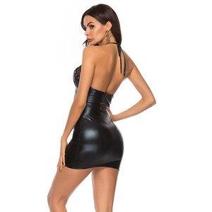 Image 5 - สิทธิบัตรหนังเร้าอารมณ์ชุดมินิผู้หญิง Wetlook ชุดชุดชั้นในเซ็กซี่ SEXY Clubwear PVC Latex Catsuit เงาชุดเครื่องแต่งกายเซ็กซี่