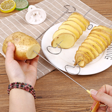 Популярный бытовой нож для спиральной нарезки картофеля огурец слайсер Терка-шинковка для овощей машинка для спиральной нарезки картофеля слайсер кухонные аксессуары