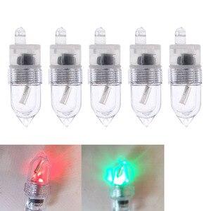 Image 1 - 5pcs LED 낚시 막대 팁 밤 빛 플래시 스트라이크 스마트 센서 막대 팁 배터리와 스트라이크 경고 낚시 액세서리 태클