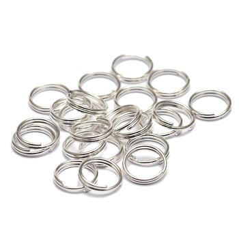 200 sztuk 5 6 8 10 12 14mm podwójne pętle pierścienie skoku Gunblack złoty srebrny rodowane Link pętli dla DIY biżuteria złącze Making tanie i dobre opinie ACTBOBO jump ring 0inch Jump pierścionki i kółka łącznikowe F142 Metal iron jump rings DIY craft jewelry 200pcs lot