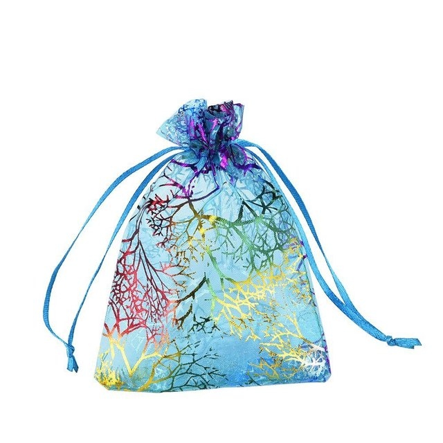 50 шт. Подарочный мешочек из органзы, упаковка для ювелирных изделий, конфетная упаковка для свадебной вечеринки, подарочные пакеты для торт...
