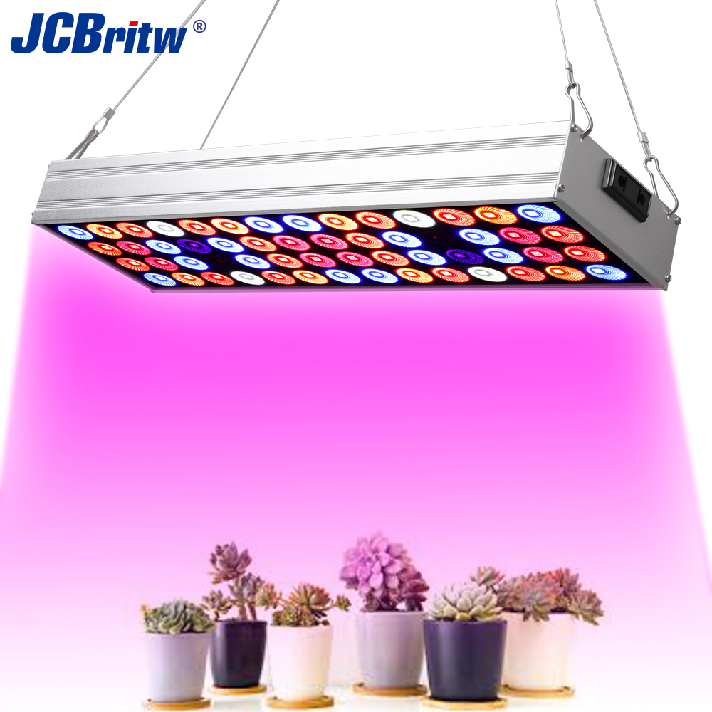 JCBritw LED Grow Light Panel Full Spectrum With UV IR Daisy Chain 50W Pro Grow Lamps Hydroponic Hanging Kit For Indoor Plants