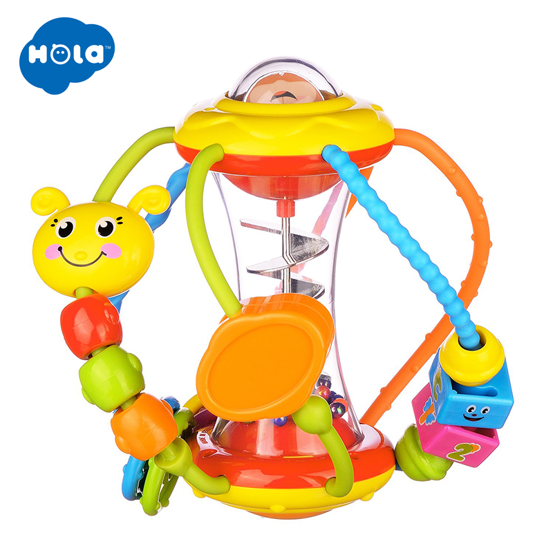 HOLA 929 Baby Rattle For Newborns 0-12 Months Early Learning Educational Toys For Infant Baby Toys Rattle The Children Puzzle