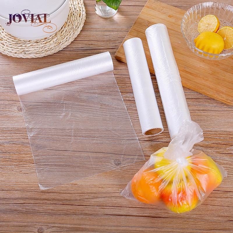 100 PCS Packages For Freezing Food Preservation Bag PE Disposable Break Snack Fruit Roll Hand Torn Shrink Plastic Mylar Kitchen