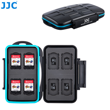 JJC Storage 8 Nintendo Switch Game Card + 8 Micro SD Card Case Water-Resistant Memory Card Case
