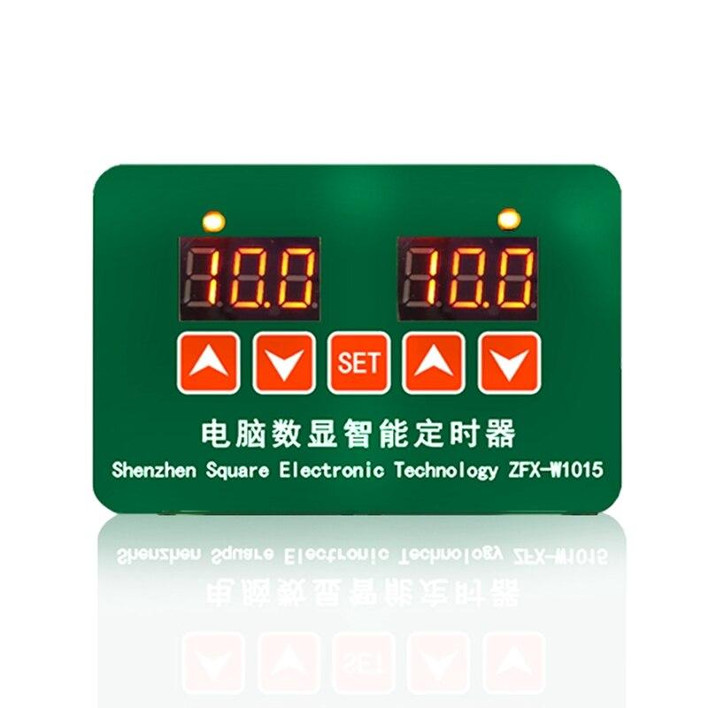 ZFX-W1015 12V 24V 220V LED Microcomputer Digital Display Temperature Controller Thermostat Intelligent Time Controller Adjustabl
