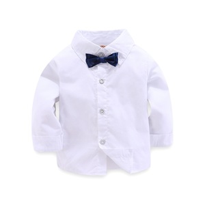 Image 2 - 子供少年服紳士グレーベスト + 長袖白シャツ + パンツ子供 4 ピーススーツスーツ子供のための衣装