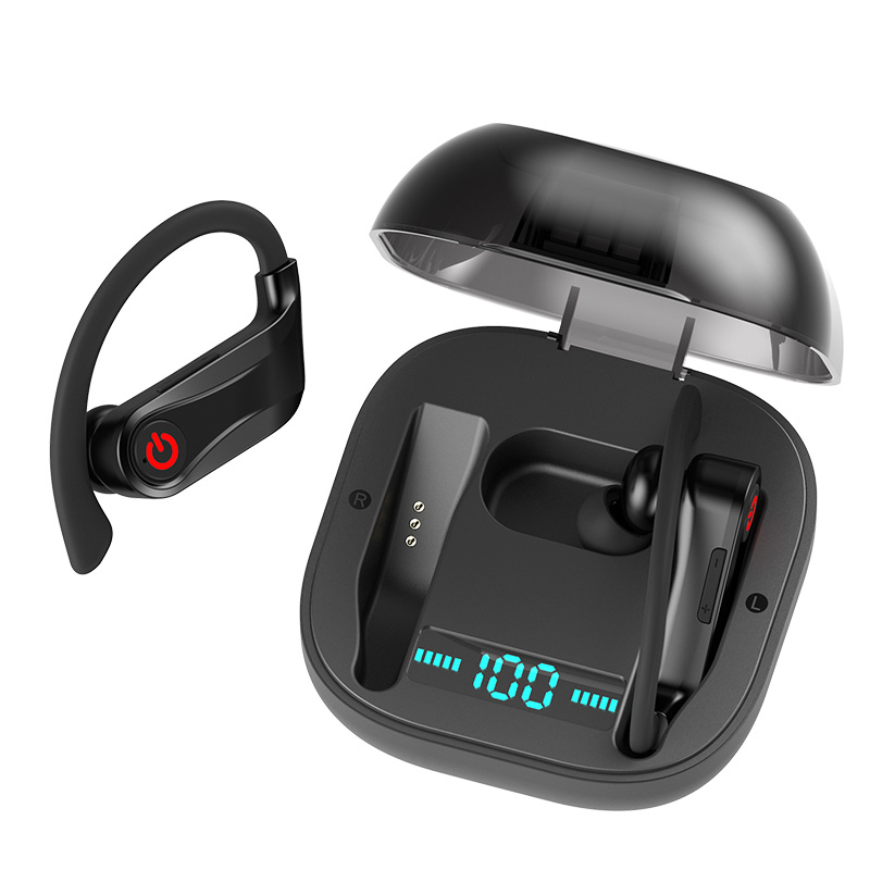 TWS Wireless Earphone Bluetooth 5.0 Headset Earbuds Stereo Bass Volume Adjust Sports Earpiece with Charging Box for Phone Bluetooth Earphones & Headphones    - AliExpress