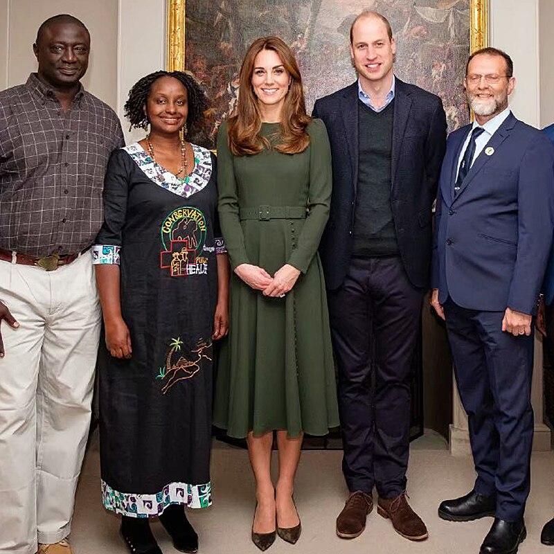 Kate Middleton robe midi haute qualité mode bureau fête décontracté Vintage elégant Chic gentlewoman printemps automne nouveau femmes