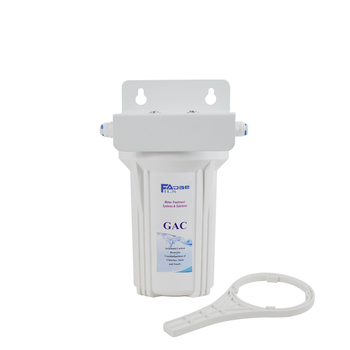 """5-Inch Long Single Stage Under Sink GAC Water Filtration System with 5"""" Activated Carbon Filters"""