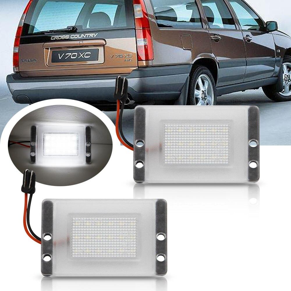 2Pcs For Volvo 855 V70 V70 XC Error Free LED Number License Plate Light Lamp