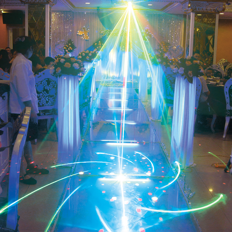 WUZSTAR 8 Holes 128 Patterns Laser Light Disco Lights LED DJ  Lighting Party Stage Decoration for Home Wedding Festival sound 3