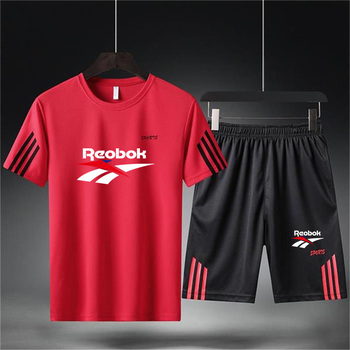 Male Casual Tracksuit Clothing Running Short Sleeve T-Shirt+Shorts Football Basketball Shirt Quick Dry Sports Suits Sportswear