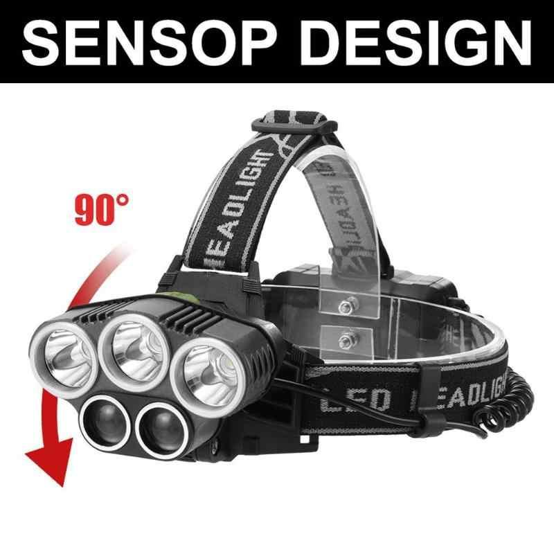 3x T6 + 2x xpe led ヘッドランプ複数のライト 15 ワット 6 モードヘッドライト防水ポータブル usb 充電式トーチ懐中電灯