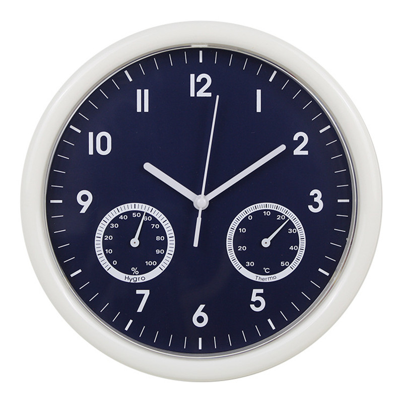 Nordic Minimalist Wall Clock Mute Temperature And Humidity Living Room Clock Home Decoration Hanging Watch Klok