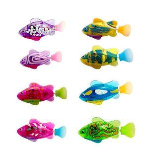 Интерактивный плавающий робот, 8 шт., милый клоун, рыба, цветная кошка, игрушка, светодиодный светильник