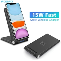 15W Qi Wireless Charger Fold Stand Holder Fast Charging Cellphones & Telecommunications