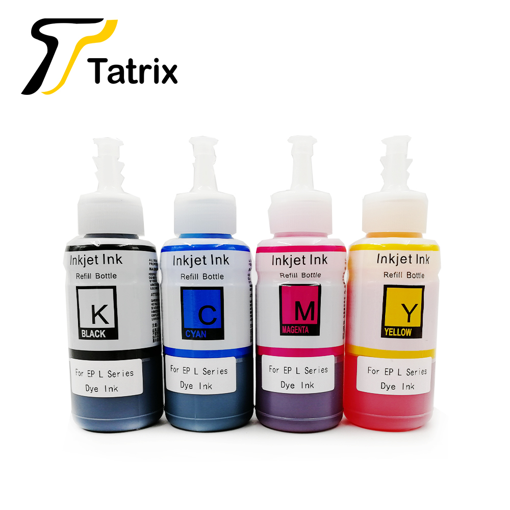 Tatrix 4colors /70ml Bottle Refill Ink Kit Compatible Ink for <font><b>Printer</b></font> <font><b>Epson</b></font> L100 L110 L132 <font><b>L200</b></font> L210 L222 L300 L362 L366 L550 image