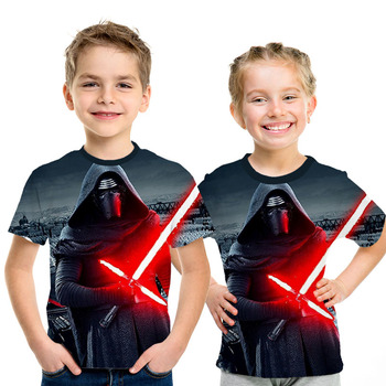 New Summer 3D Printed star wars t shirt Boys girls Short Sleeve Funny Top Tees Fashion Casual clothing Asia Size 3 D T-shirt