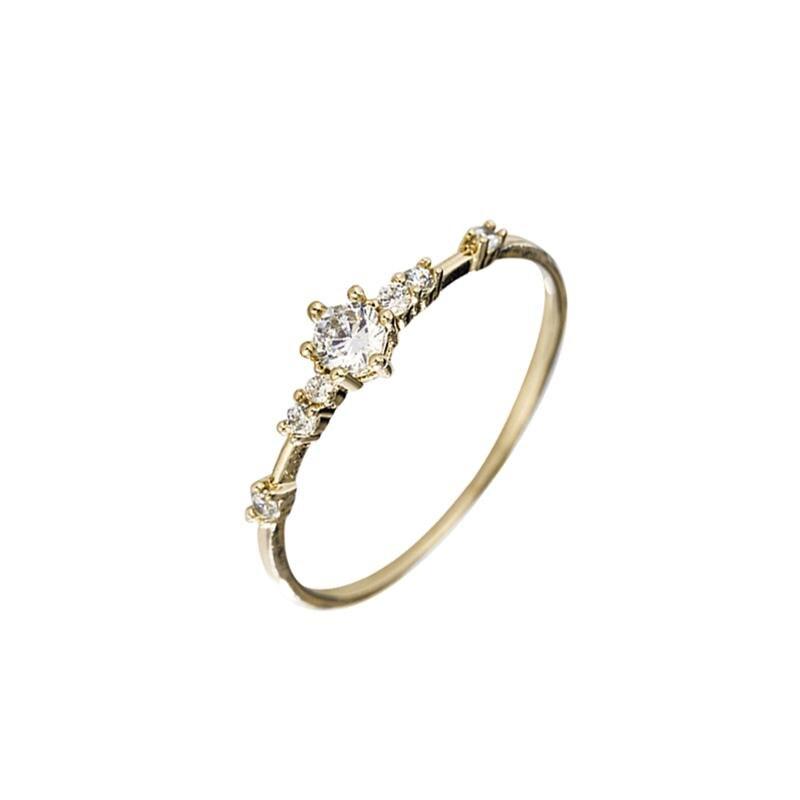 Golden Diamond Rings Broken Small Sterling Silver 14k Gold