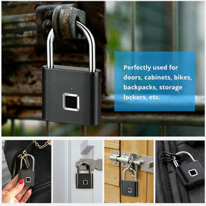 Image 5 - Towode Keyless USB Rechargeable Door Lock Fingerprint Smart Padlock Quick Unlock Zinc alloy Metal Self Developing Chip