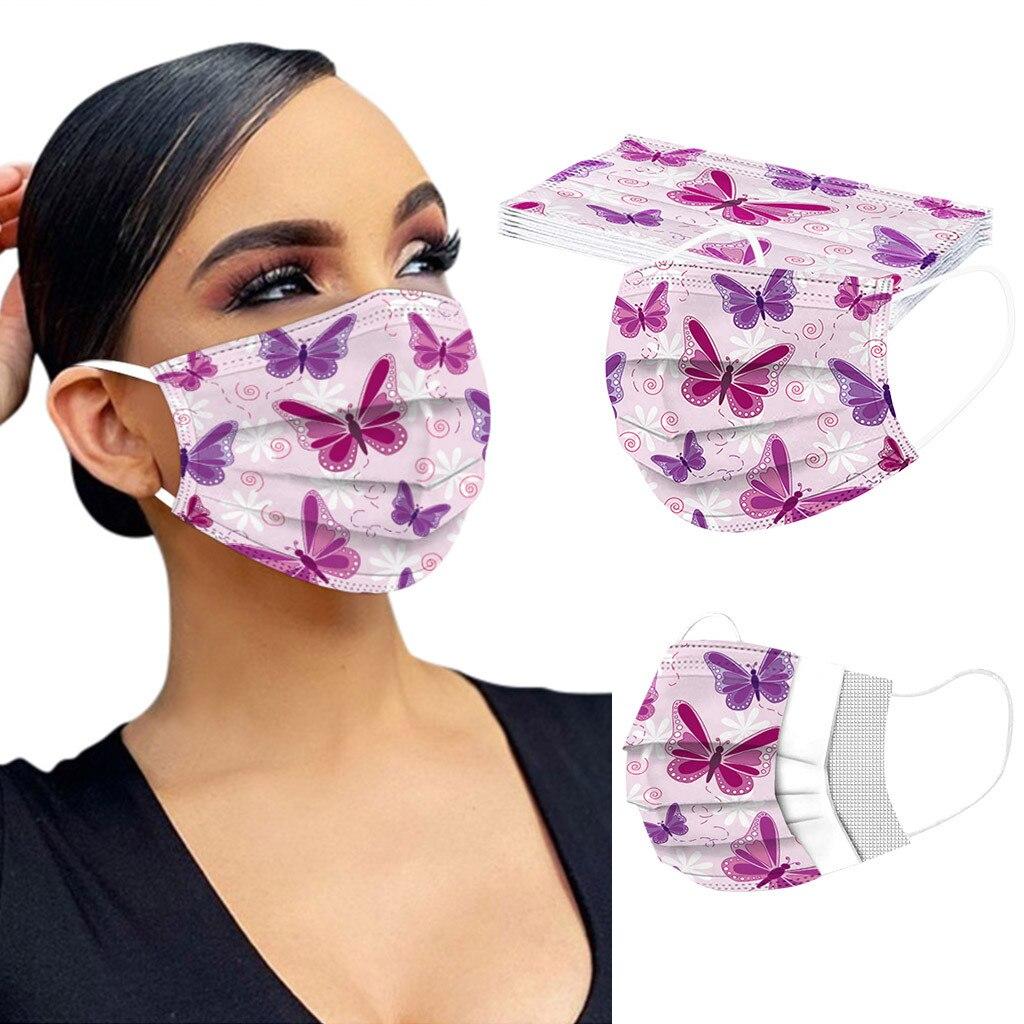 10/20 шт. маска Нетканая одноразовая маска для лица Мода 3 Слои маска для взрослых Печатный фильтр mondkapje маска для полости рта туши для ресниц