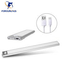 Luz LED de noche ultrafina, 12/23, 5/40cm, con Sensor de movimiento PIR, recargable por USB, para Cocina