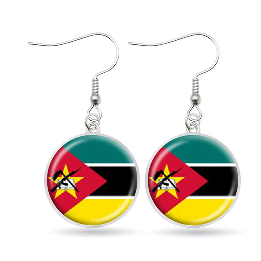 National Flag Earrings Egypt South Africa Somalia Kenya COG Nigeria Sudan Morocco Algeria Ghana Tunisia Dangle Earrings Jewelry