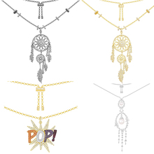 Ailie high quality 1:1 original 925 sterling silver necklace A pop art series dream catcher PM ladies fashion jewelry gifts