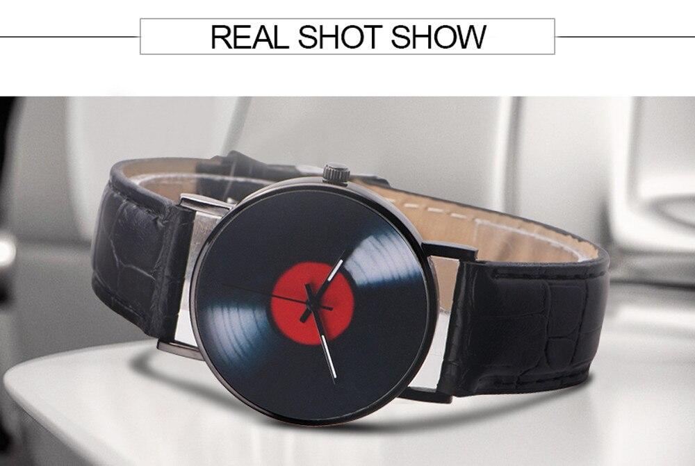 H46ecdd1cb6c240128040b89ad4ccc5a1l 2020 Fasion Men's Watch Neutral Watch Retro Design Brand Analog Vinyl Record Men Women Quartz Alloy Watch Gift Female Clock NEW