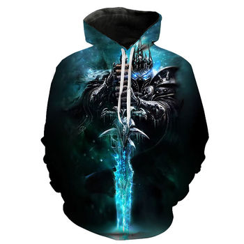 World Of Warcraft Hoodie The Lich King In Northrend Hoodie Collection 1