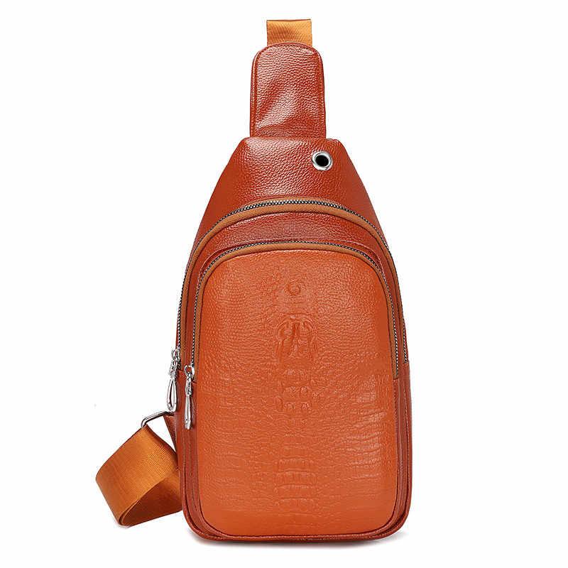 Retro  Men's Versatile Fanny pack Comfortable Waist bag Male PU Leather Solid Color Belt Bag Marsupio uomo Bolsa de cintura