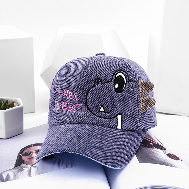 H46ed00cdc8544f5ebbeb8f46595f24d5O - Spring Autumn Baby Baseball Cap Cartoon Dinosaur Baby Boys Caps Fashion Toddler Infant Hat Children Kids Baseball Cap