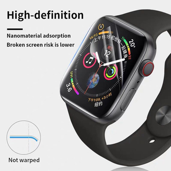 Screen Protector Clear Full Coverage Protective Film for Apple Watch 5 4 44MM 40MM Not Tempered Glass for iWatch 3 2 1 42MM 38MM tempered glass 3d full coverage protector for apple watch 4 curved screen edge protective film for iwatch series 40mm 44mm