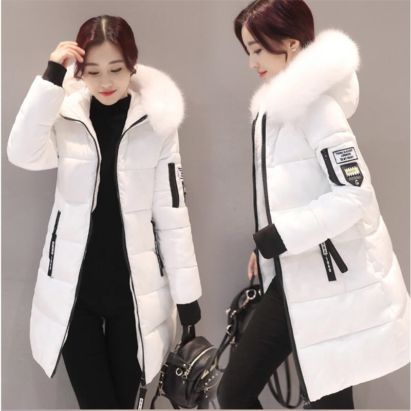 Parka coat women winter coat long cotton casual cotton hooded coat women thick warm winter coat