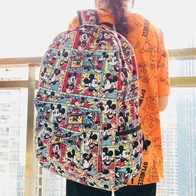 Happy Mickey Fashion Backpacks Rucksacks Cartoon Backpack Casual Student School Bags Travel Knapsack Unisex Gifts New