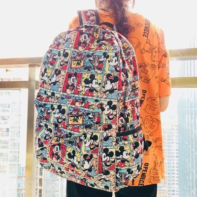 Happy Mickey Fashion Backpacks Rucksacks Cartoon Backpack Casual Student School Bags Travel Knapsack Unisex Gifts New