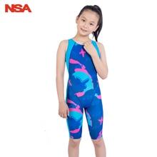 Детский купальник для девочек, соревновательный тренировочный Цельный купальник, женский профессиональный детский купальный костюм для девочек